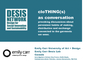 2014 – CloThing(s) as conversation