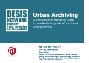 2014 – Urban Archiving