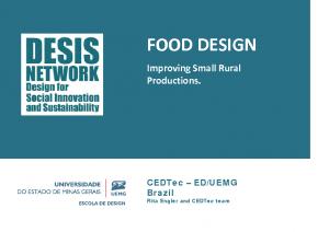 2014 – Food Design