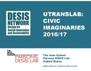 Utranslab: Civic Imaginaries 2016/17