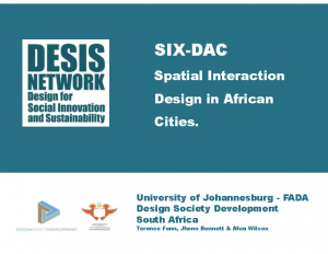 Spatial Interaction Design in African Cities