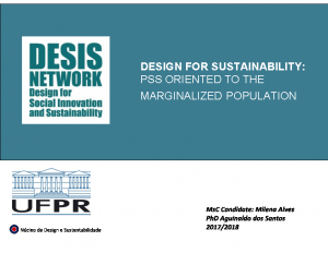 2018-Design for Sustainability: Pss Oriented to the  marginalized population