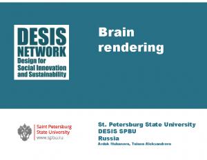 2018 -Brain Rendering Platform