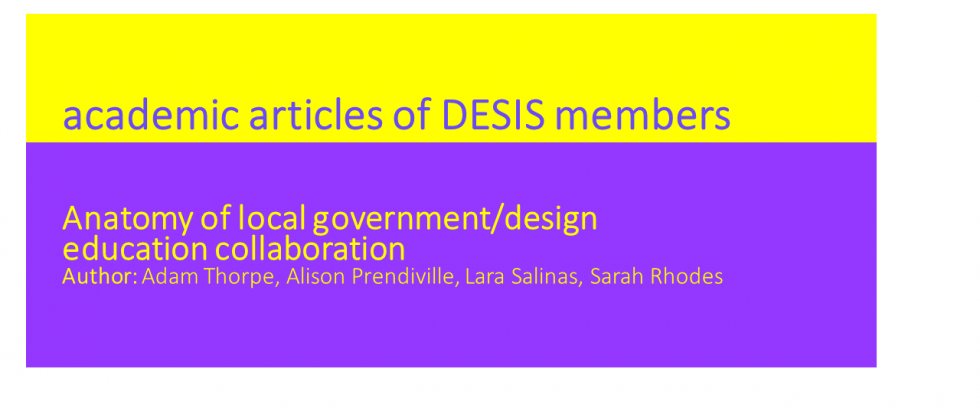 Desis Network | Anatomy of local government/design education ...