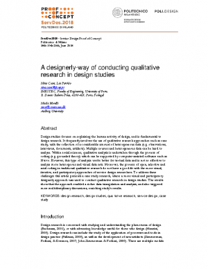 A designerly-way of conducting qualitative