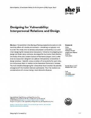 Designing for Vulnerability Interpersonal Relations and Design_organized