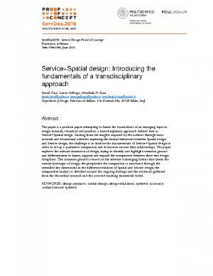 ServiceSpatial design